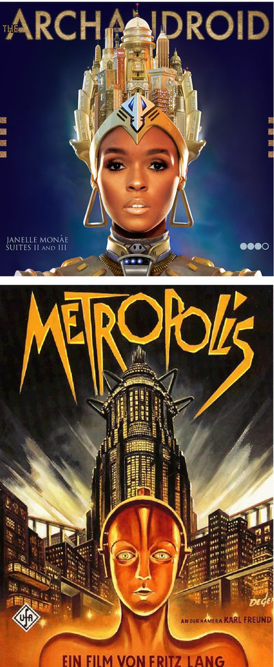 Janelle Monae's Archandroid drew much of its inspiration and aesthetic style from Fritz Lang's Metropolis.